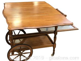 Rolling Vintage Folding Serving Tea Cart
