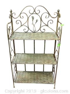 Bakers Mini Rack Metal 3 Shelf Foldable