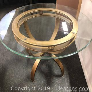 PAIR Modern Glass Top Accent Tables