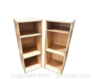 Set Of 2 Shelves With 2 Shelves Each