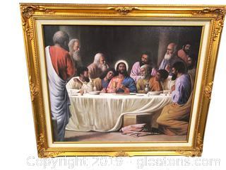 Gold Framed Print Last Supper