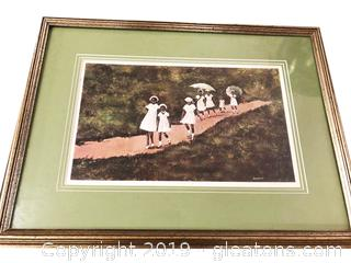 Painting By Ann Mount In Silver Frame