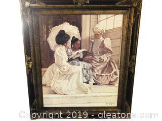 Beautifully Framed Print Of Victorian Women