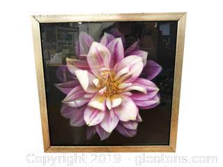 Purple Flower Print In Frame