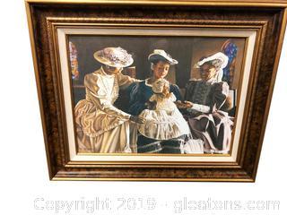Victorian Women Print In Frame