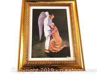 "Framed Print Guardian Angel ""He Lifted Me"""