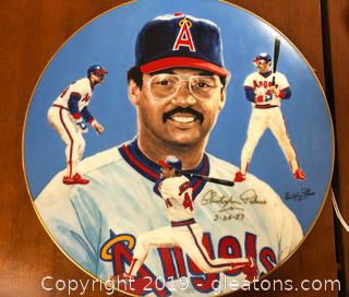 1983 Reggie Jackson Plate Mr. October