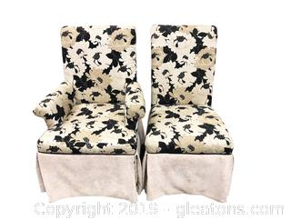 Four Custom Upholstered Chairs