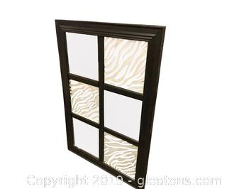 Large Mirror 6 Panel Frosted Glass And Zebra Motif
