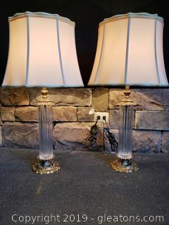 PR Of Gorgeous Glass Tower Lamps/Base/Vintage Lamp Shades