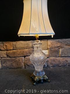 Antique Cut Glass Lamp