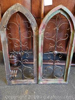 Set Of 2 Cathedral Wall Decor