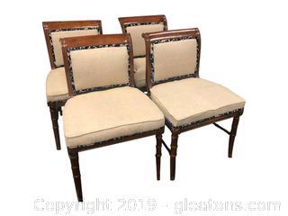 Nice Wood & Upholstered Chair Set
