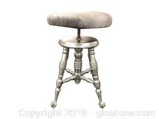 Updated Antique Piano Stool
