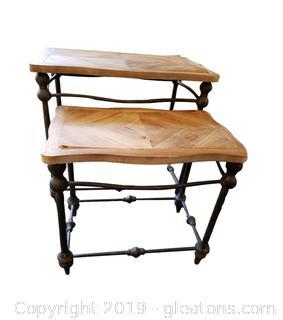 Farmhouse Industrial Nesting Tables