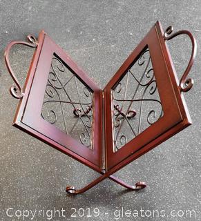 Magazine Holder Metal Decorative