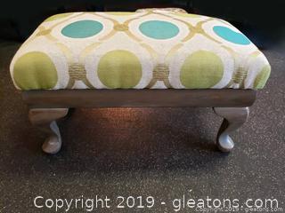 Vintage Stool Newly Upholstered