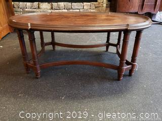 Vintage Coffee Table Bamboo Style Legs