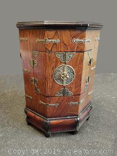 Liquor Cabinet Treasure Chest Style