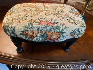 Small Decorative Stool Tapestry Fabric