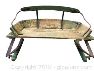 Antique/Primitive Wood Horse Buggy/Sleigh Seat