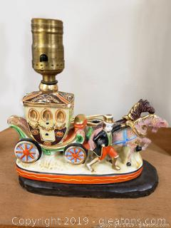 Vintage Porcelain hand Painted Royal Carriage