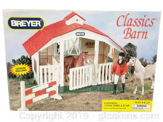 Breyer Classic Barn - 3 Stall Jump Accessories Ages 4 UP