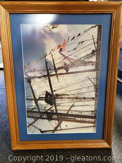 Real photo Matted In Wood Frame