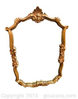 Vintage Victorian Wood Frame/Gold Heavy