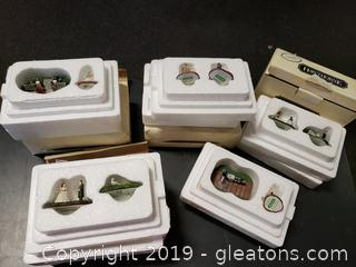 Lot 32 (5) Boxes Of Hawthorne Gone With The Wind Mini Collectibles