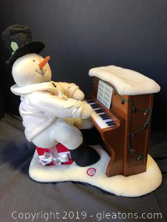 Lot 59 Hallmark Musical Piano Playing Snowman