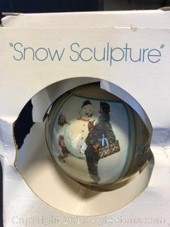 Norman Rockwell Vintage 1979 Snow Sculpture Bulb