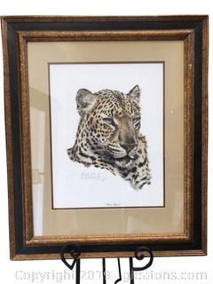 "25x30 ""Chinese Leopard"" Beautiful Art By Guy Coheleach"