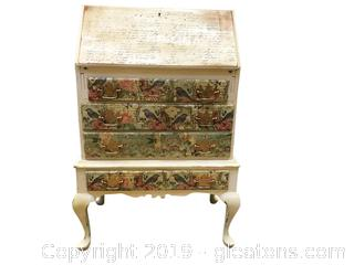Lot 377 Petite Secretary Desk painted By Local Artisan