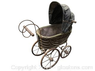 Lot 382 Antique Doll Carriage