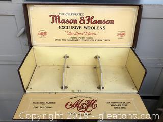 Vintage wool sampler box