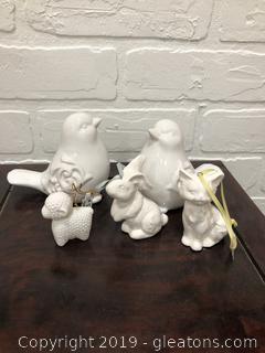 Porcelain and Ceramic White Miniatures