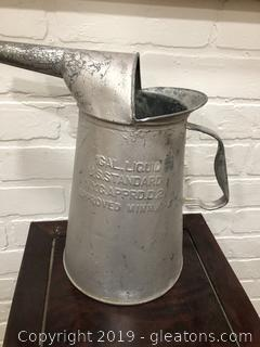 Vintage Metal Gallon Oil Can