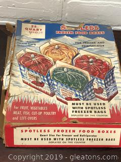 Lot of 1950's Frozen Boxes in Package.