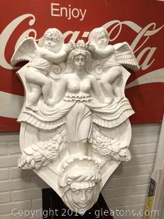 High Relief Large Fiberglass Plaque Woman