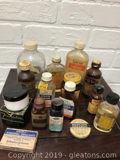 Lot of vintage Medicine Cabinet Finds