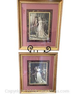 Set Of Victorian Prints In Lovely Matting And Framed