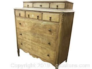 Antique Chest of Drawers 9 Drawers