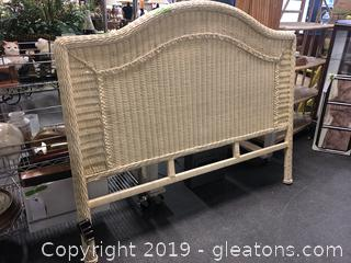 Wicker Queen Headboard With Frame