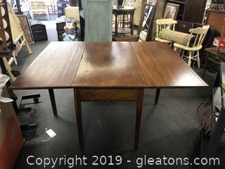 Solid Oak Antique Drop Leaf Table