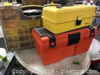 Lot Of 3 Portable Tool Boxes