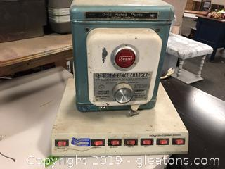 Lot Of A Vintage Electric Fence Charger And A Power, Comm 3000