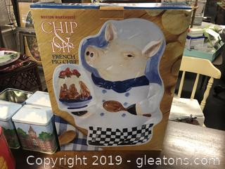 Lot Of 3 Items Chip And Dip Pig Chef Ritz Tin 4 Tin Banks