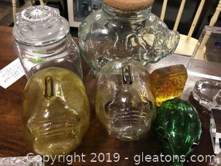 Box Lot Of Glass Items