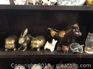 Lot E Shelf #3 Assorted Piggy Banks